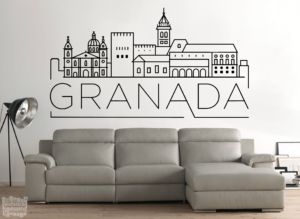 Vinilo decorativo Granada skyline