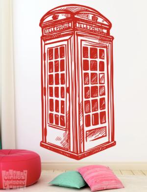 Vinilo decorativo de cabina telefonica de Londres