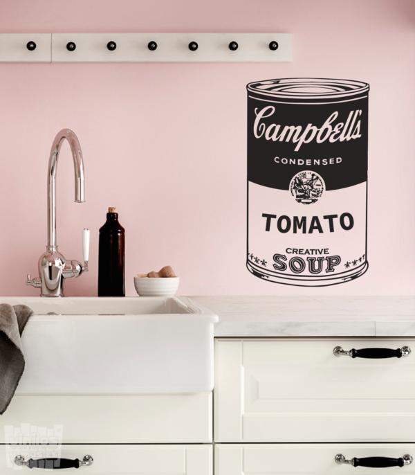"Vinilo decorativo lata de sopa Campbell ""Andy Warhol"""