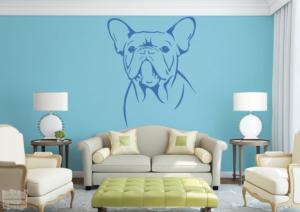 Vinilo decorativo de Bulldog Francés