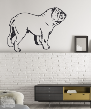 Vinilo decorativo de Bulldog Ingles
