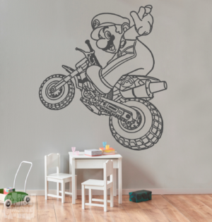 Vinilo decorativo Super Mario moto cross