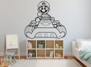 Vinilo decorativo de Mario kart