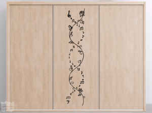 Vinilo decorativo dibujo ADN musical.