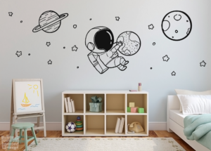 Vinilo decorativo astronauta infantil
