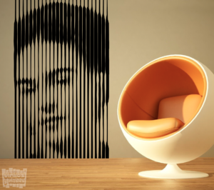 Vinilo decorativo de Frida Kahlo efecto 3D