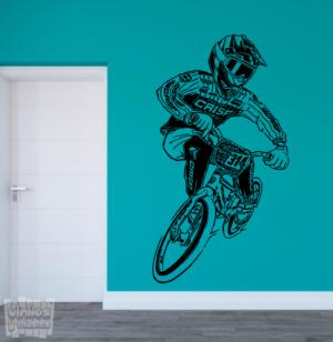 Vinilo decorativo Mountainbike racing.
