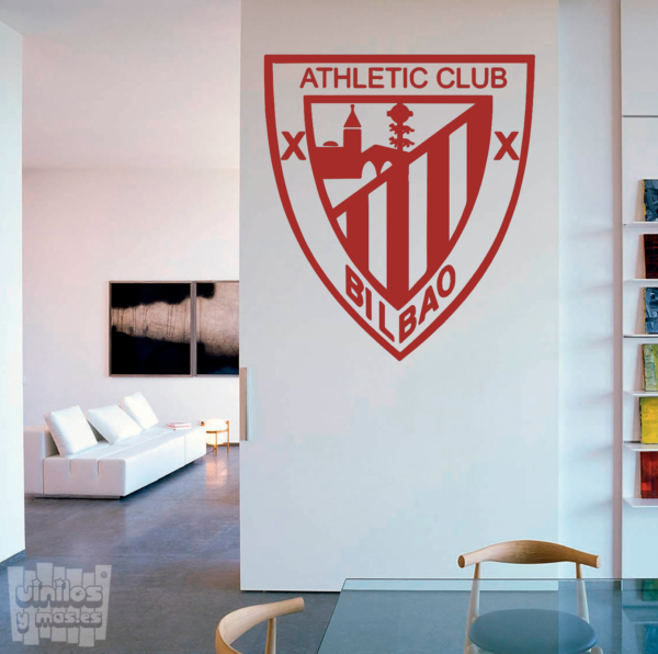 Vinilo decorativo Escudo Athletic de Bilbao.