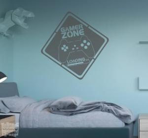 Vinilo decorativo Gamer zone.