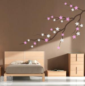 Vinilo decorativo Ramas con flores 3 colores
