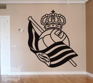 Vinilo decorativo Escudo Real Sociedad de Fútbol.