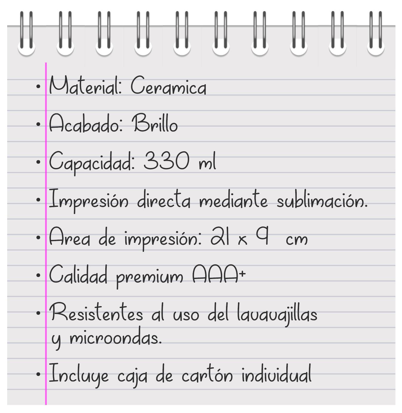 descripcion tazas - vinilosymas.es