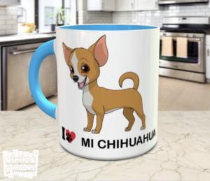 taza i love mi chihuahua - vinilosymas.es