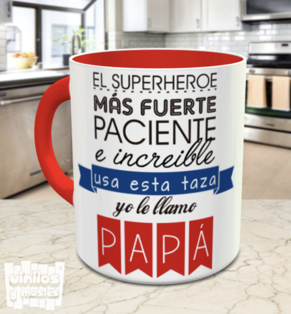 taza papá el superheroe