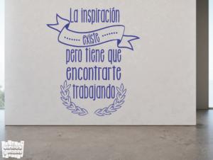 La inspiración existe pero tiene que encontrarte trabajando - vinilosymas.es