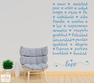 Vinilo decorativo Palabras positivas - vinilosymas.es