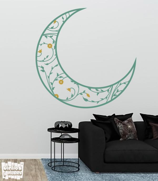 Luna floral - vinilosymas.es