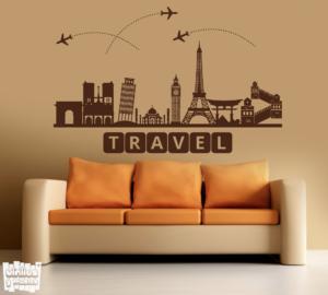 "Vinilo decorativo: Travel ""monumentos""."