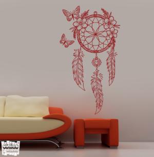 Vinilo decorativo Cazasueños mariposas