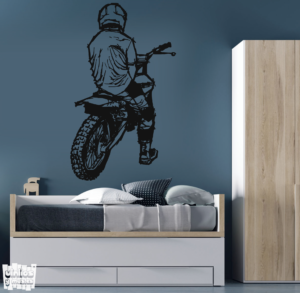 Vinilo decorativo Motocross life