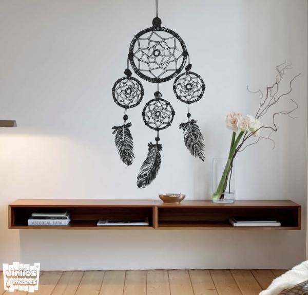 vinilo decorativo cazasueños plumas