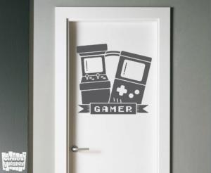 Vinilo decorativo Gamer arcade.