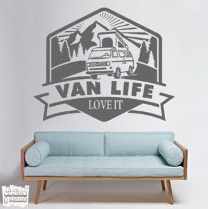 Vinilo decorativo Van life, love it