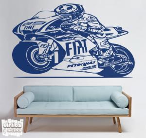 Vinilo decorativo Jorge Lorenzo - Yamaha Fiat.