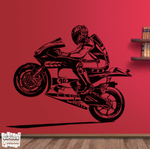 Vinilo decorativo Moto GP caballito.