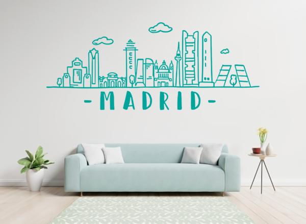 Madrid skyline - vinilosymas.es