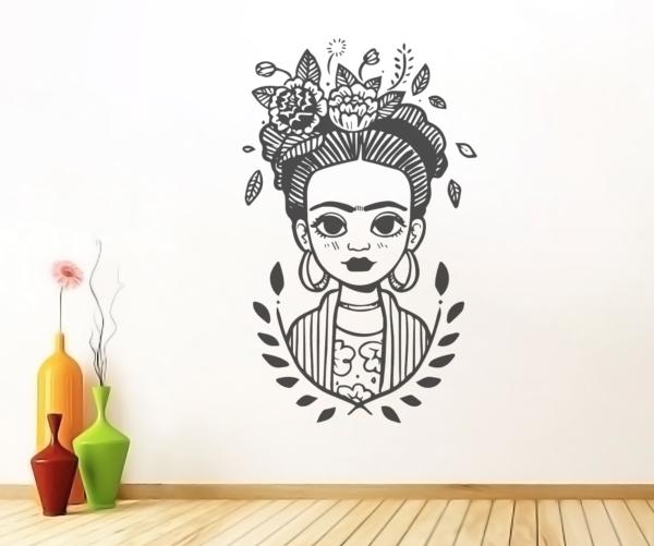 Vinilo decorativo Frida Kahlo - dibujo - vinilosymas.es