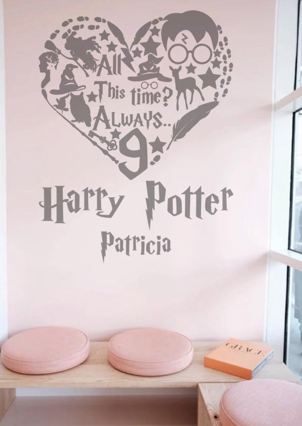 Harry Potter love + nombre personalizado - vinilosymas.es
